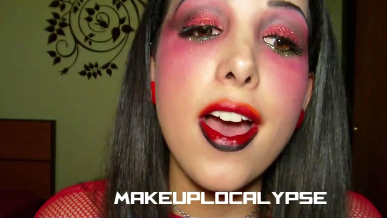 labios para diabla de halloween youtube