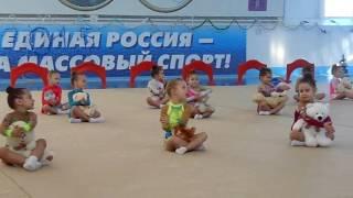 Художественная гимнастика. Первое выступление. Дети 4 - 5 лет. Гагарин декабрь2014 года(, 2016-05-24T06:10:26.000Z)