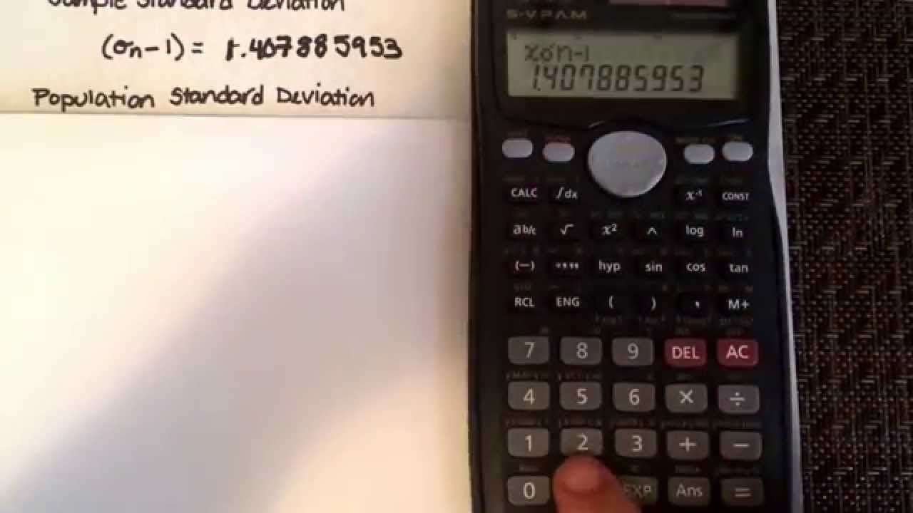 standard deviation other statistical calculations using a standard deviation other statistical calculations using a calculator casio fx 991ms