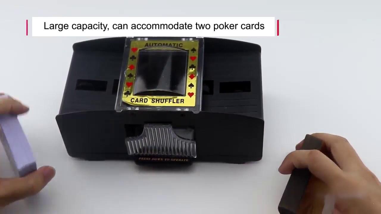automatic poker card shuffler electronic poker card