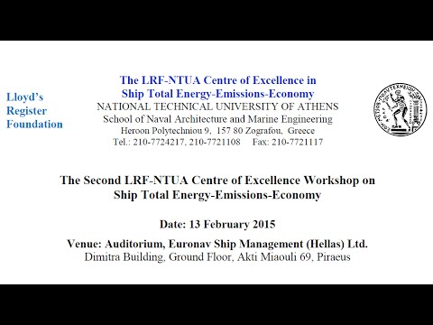 Parts from The 2nd LRF-NTUA Centre of Excellence Workshop