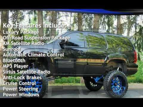 2013 Chevrolet Tahoe 4X4 NAVI 3 Row Moon BULLETPROOF Lift 24 New 35 DVD for sale in Milwaukie, OR