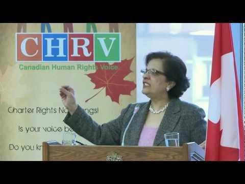 Canadian Senator The Hon. Mobina Jaffer