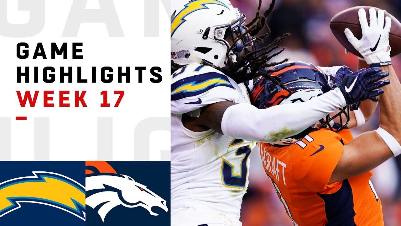 Chargers vs. Broncos Week 17 Highlights | NFL 2018
