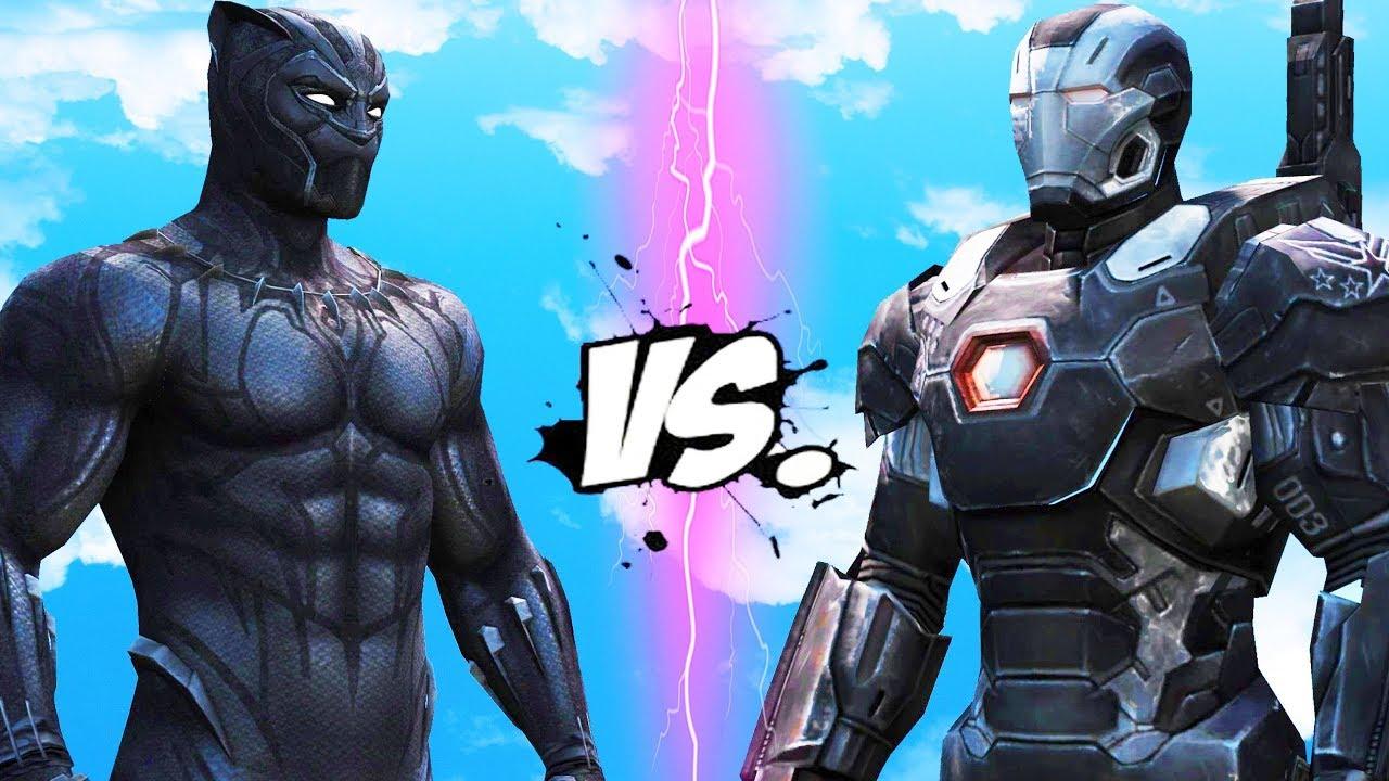 BLACK PANTHER VS WAR MACHINE - EPIC BATTLE - YouTube - photo#9