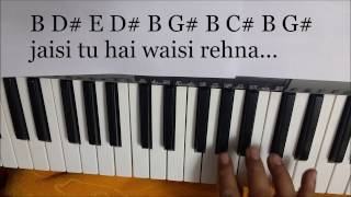 Jag Ghoomeya (sultan) keyboard(piano) notations/song lyrics
