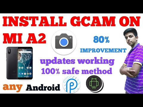 Install gcam/pixel3 cam and ar stickers on mia2 on any