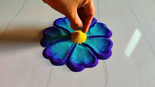 Beautiful and innovative flowers rangoli designs with colours