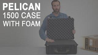 Pelican 1500 Case with Foam, Black (Camera, Gun, Equipment Case)