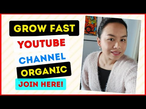 Organic Growth.Work hard and grow your Channel. Wonderful day everyone!