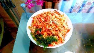 """Готовим вкусный салат""""Лисичка""""!!!"""