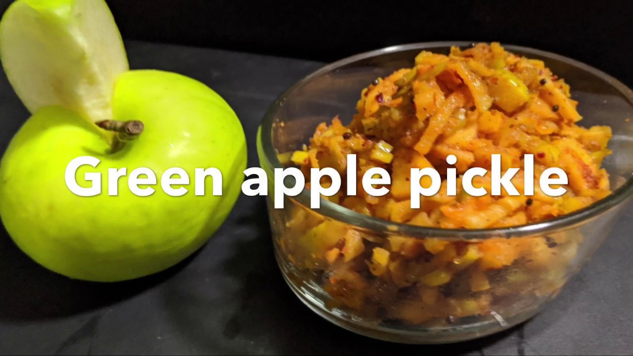 Instant green apple pickle