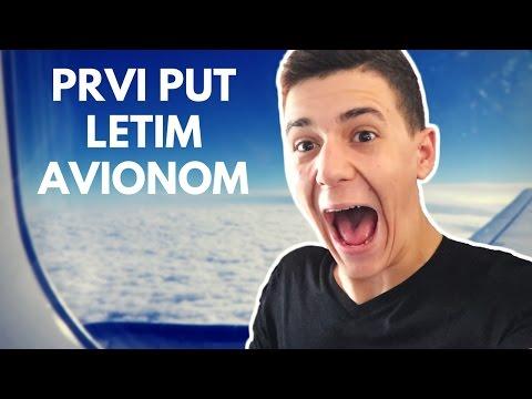 PRVI PUT LETIM AVIONOM | VidCon vlog | LayZ