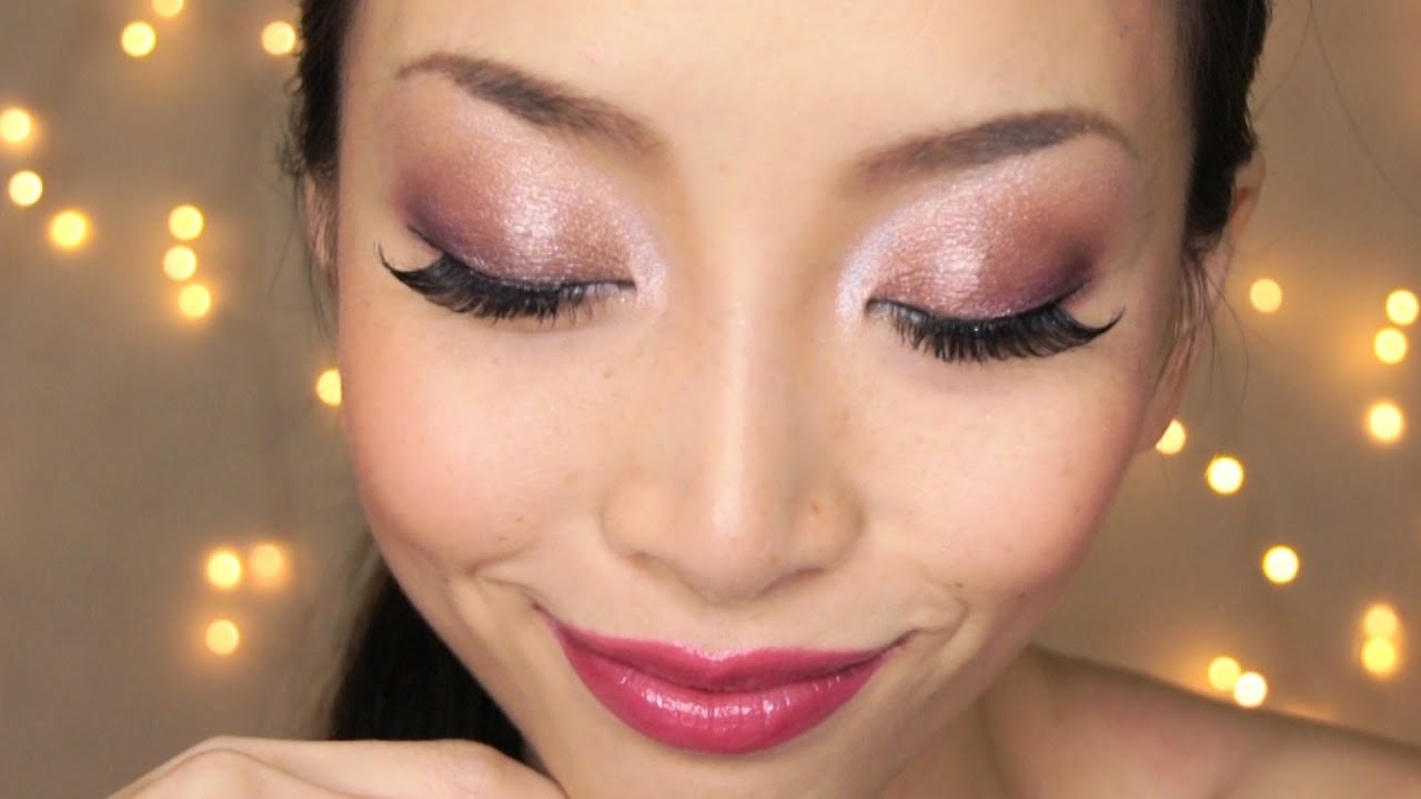 Holiday Makeup Classic Party Makeup Champagne Gold Eyes - YouTube