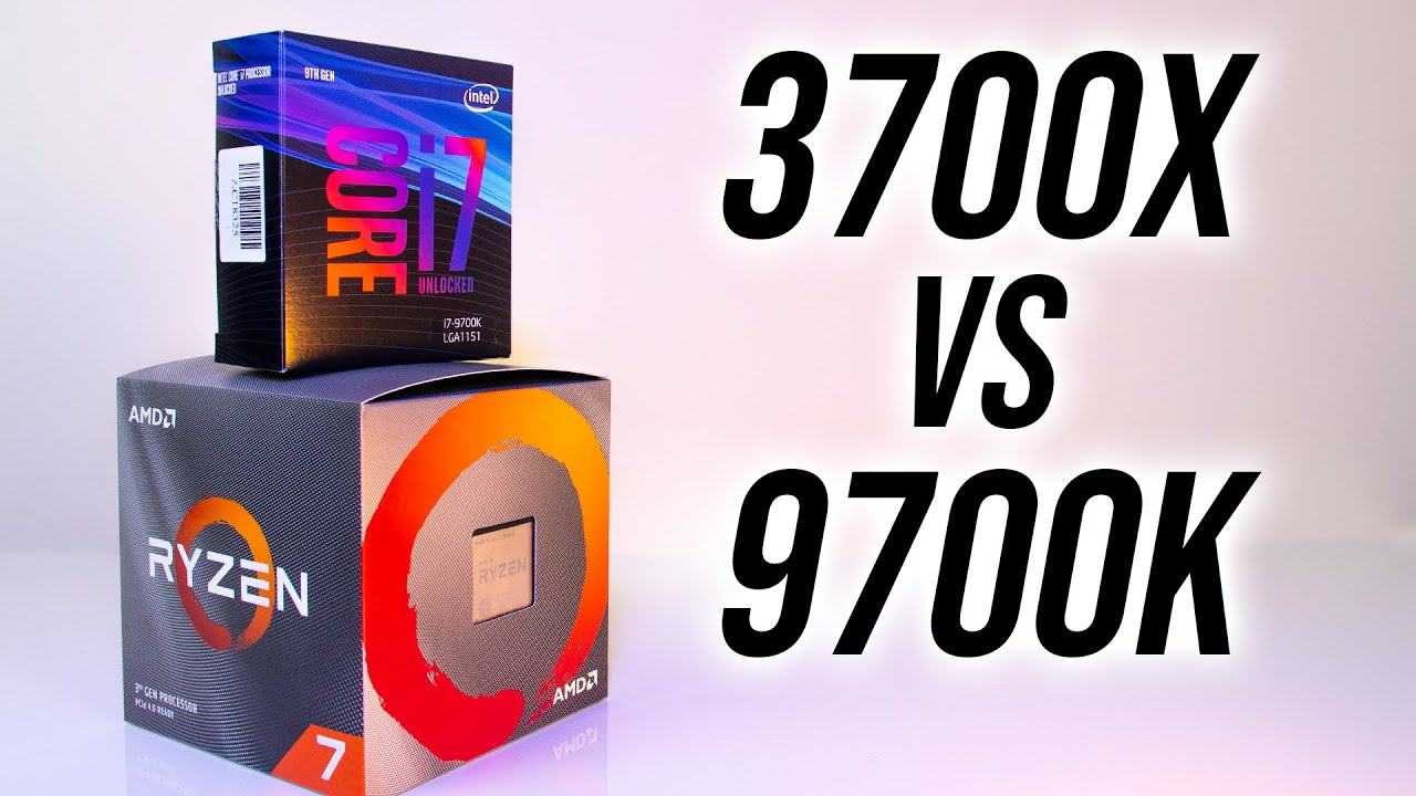 Amd Ryzen 7 3700x Vs Intel I7 9700k Which 8 Core Cpu In 2019 Youtube