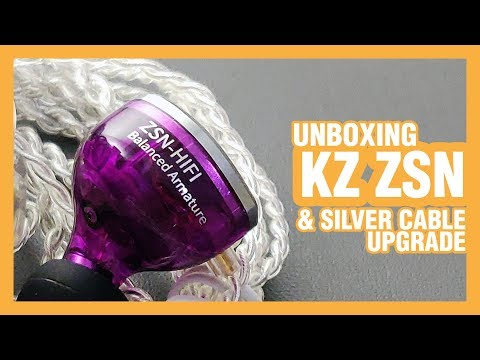 KZ ZSN + Silver Cable Upgrade Unboxing | Indonesia