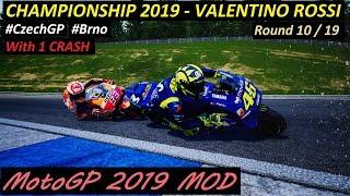 MotoGP 2019 MOD | Valentino Rossi | Championship | 10 #CzechGP  | PC GAMEPLAY