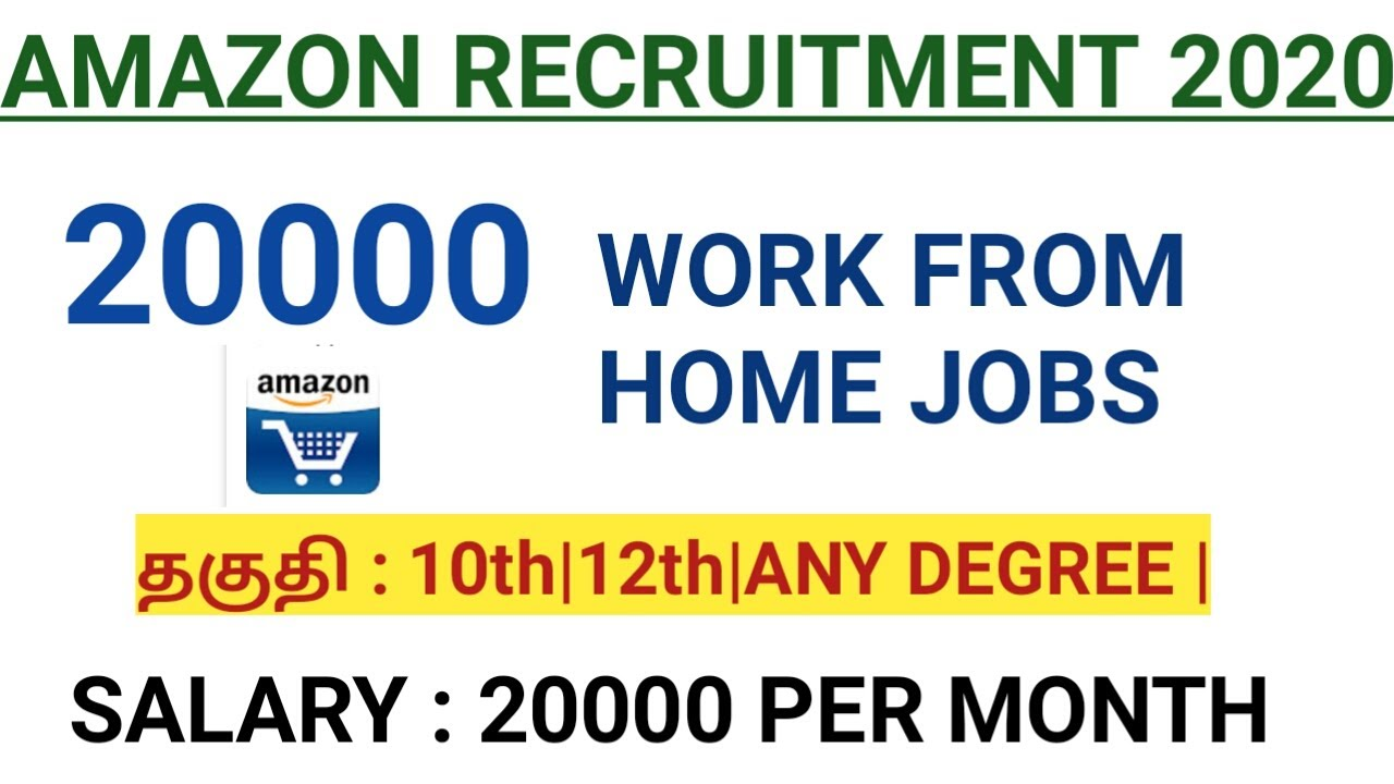 20000 JOB VACANCIES | APPLY NOW | AMAZON RECRUITMENT 2020 | 10th to any degree can apply |