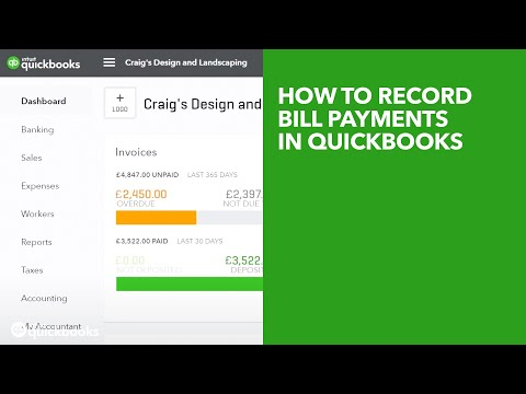 How To Record Bill Payments In Quickbooks Youtube