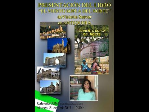 Victoria Suever Entrevista TV Antequera Presentacion Libro El Viento Sopla Del Norte