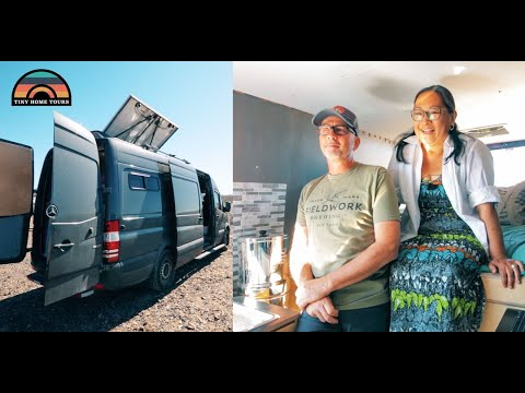 retired-couple-fulfills-dream-&-moves-into-a-stealth-off-grid-camper-van