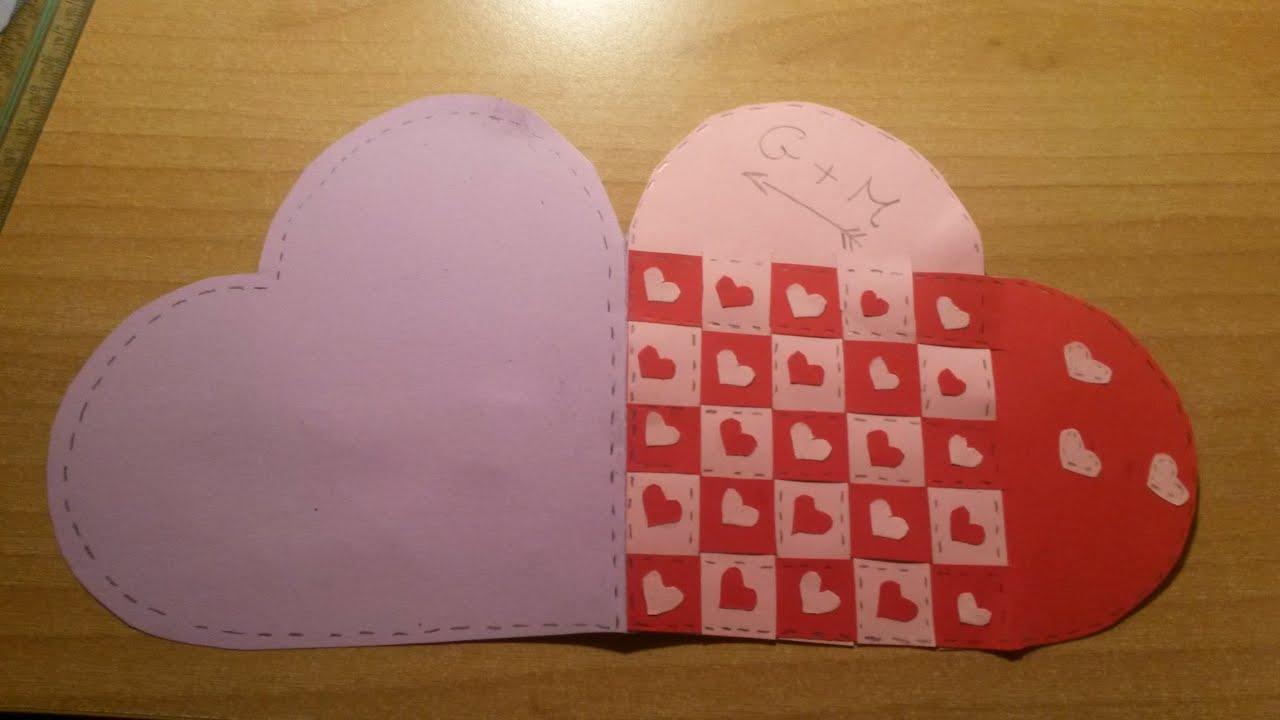 Idee fai da te per san valentino lettera a cuore youtube for Idee san valentino fai da te