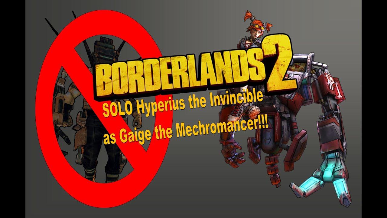 borderlands 2 hyperius the invincible weakness
