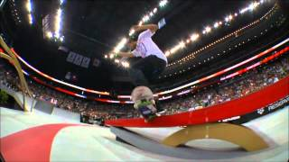 Paul Rodriguez nollie crook late front foot flip out street league 2012