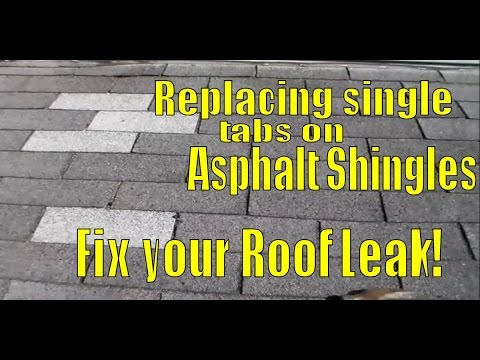 How To Fix Leaking Roof In Asphalt Shingles Replacing Single