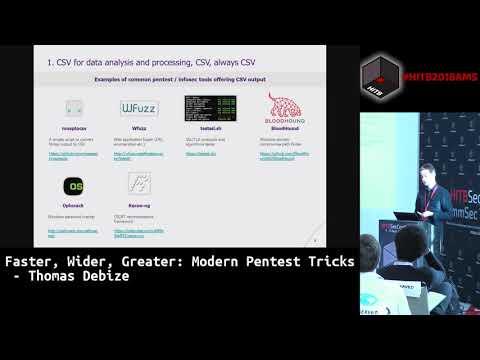 #HITB2018AMS  CommSec D1 -  Faster, Wider, Greater: Modern Pentest Tricks - Thomas Debize