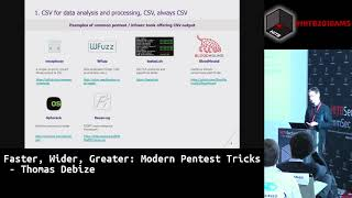 #HITB2018AMS  CommSec D1 -  Faster, Wider, Greater: Modern Pentest Tricks - Thomas Debize