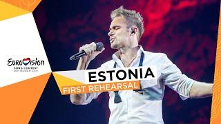 Uku Suviste - The Lucky One - First Rehearsal - Estonia 🇪🇪 - Eurovision 2021