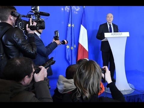 """Juppé : """"Je ne serai pas candidat !"""" (Bordeaux - 6 mars 2017)"""