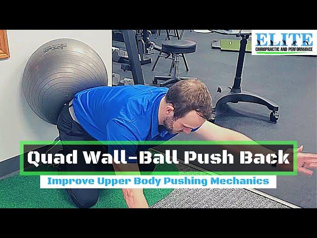Quad Wall Ball Push Backs   Improve Upper Body Pushing Mechanics