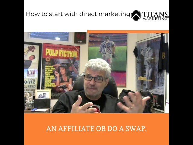 How to start as an entrepreneur with direct marketing