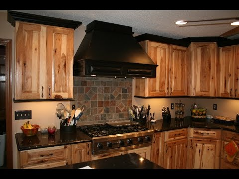 Rustic Hickory Kitchen Cabinets Cherry Wood Table And Chairs Youtube