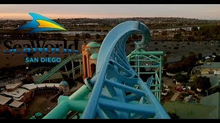 POV Electric Eel at SeaWorld San Diego (New for 2018 Roller Coaster)