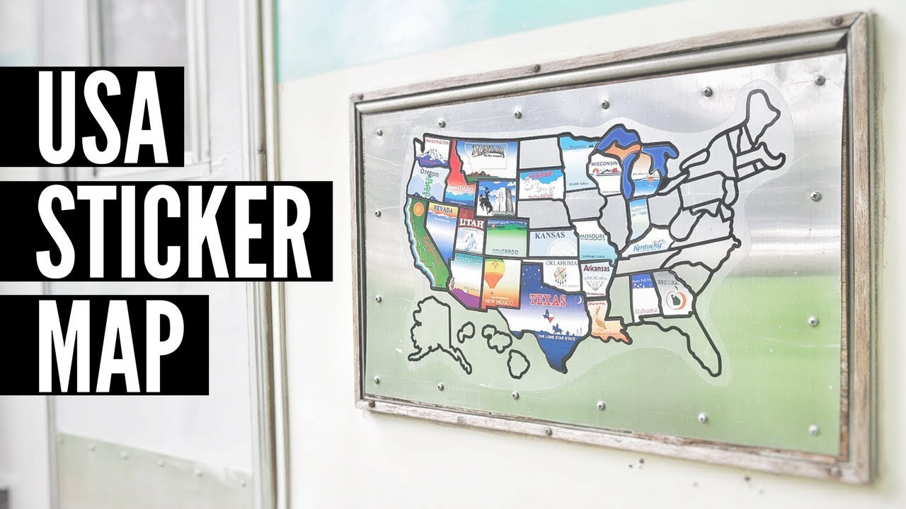 USA Sticker Map for RVs 🚐🇺🇸 Full Time RV Living ✌🌎 Map of the ...