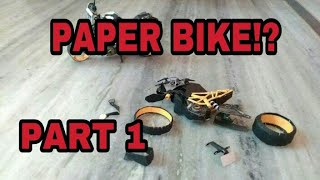 How to make TVS Apache RR 310 paper model bike(wheels)