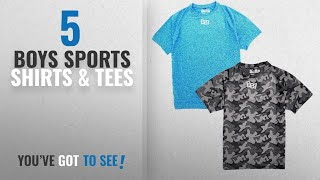10 Best Boys Sports Shirts & Tees [2018 Best Sellers]: Abito boys sports t shirts zip-dry pack of 2