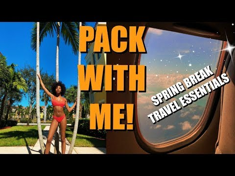 PACK WITH ME + travel essentials for spring break 2019! ✈️ Mp3