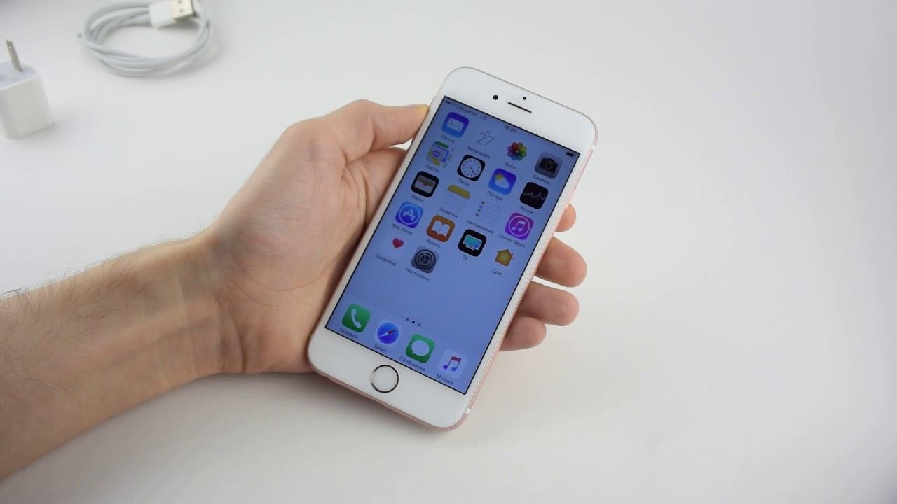 Точная корейская копия iPhone 6S plus 32 Гб металл 1В1 - YouTube