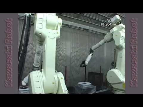 Kawasaki Robot Motosiklet Kaporta Plastik Boyama Kf264 Youtube