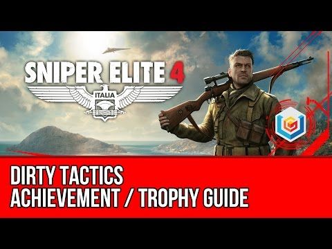 Sniper Elite 4 - Dirty Tactics Achievement / Trophy Guide (Kill an enemy via a booby trap) - 동영상