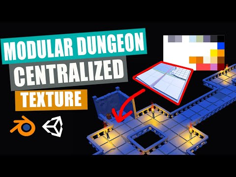 Blender to Unity   Low Poly Modular Dungeon   Part 3   Floor Tiles UV Unwrap & Applying Materials