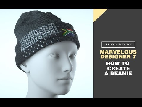Marvelous Designer 7 - How To Create A Beanie