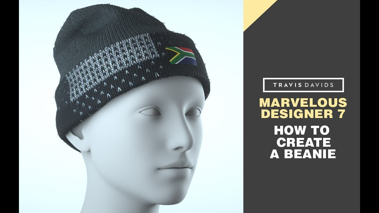Marvelous Designer 7 - How To Create A Beanie - YouTube d5b74be0025