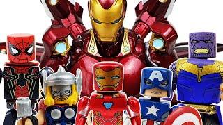 Spider-Man, Gwen! Avengers, Hulk, Iron Man, Captain America, Miles Morales, Ham, Thanos, Minimates