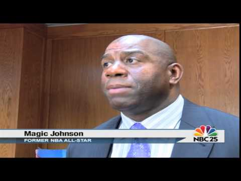 Magic Johnson visits Saginaw for the 'The Magic Of Promise event'