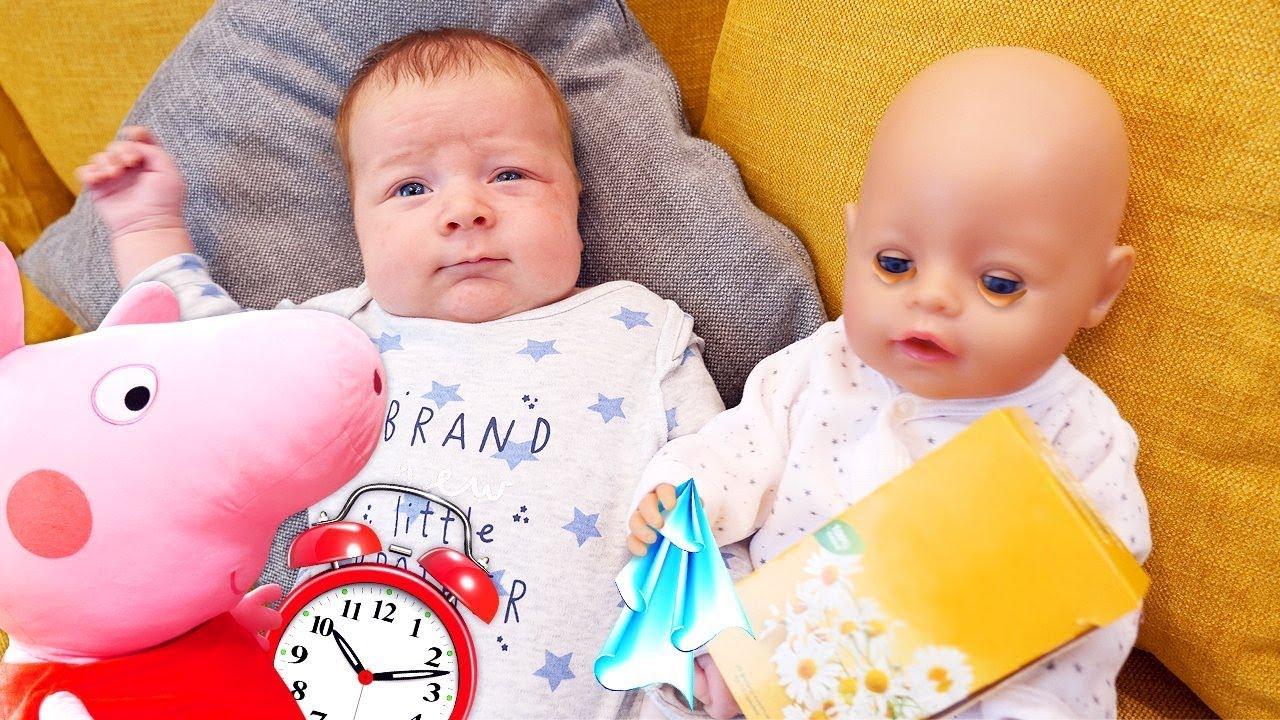Spiel mit Baby Born - Mamas Schule mit Peppa Wutz - 3 Kindervideos am Stück